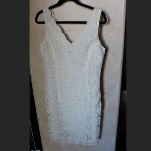 Ann Taylor white/creme lacy dress
